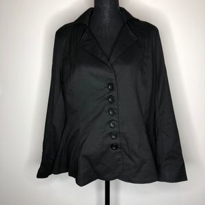 Eliza Parker Black Button Casual Jacket Blazer 10